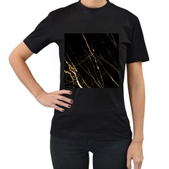 Black Marble Women s T Shirt (black) by 8fugoso