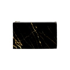 Black Marble Cosmetic Bag (small)  by 8fugoso