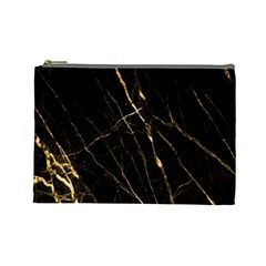 Black Marble Cosmetic Bag (large)  by 8fugoso