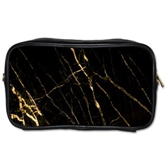 Black Marble Toiletries Bags 2 Side by 8fugoso