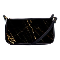 Black Marble Shoulder Clutch Bags by 8fugoso
