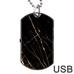 Black Marble Dog Tag Usb Flash (two Sides) by 8fugoso
