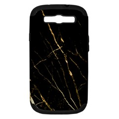 Black Marble Samsung Galaxy S Iii Hardshell Case (pc+silicone) by 8fugoso