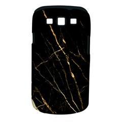 Black Marble Samsung Galaxy S Iii Classic Hardshell Case (pc+silicone) by 8fugoso