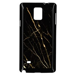 Black Marble Samsung Galaxy Note 4 Case (black) by 8fugoso