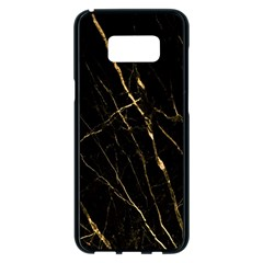 Black Marble Samsung Galaxy S8 Plus Black Seamless Case by 8fugoso