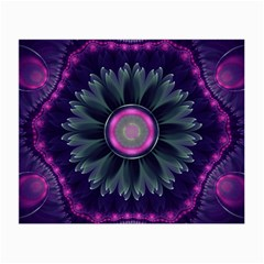Beautiful Hot Pink And Gray Fractal Anemone Kisses Small Glasses Cloth by jayaprime