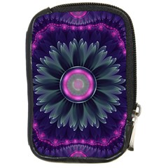 Beautiful Hot Pink And Gray Fractal Anemone Kisses Compact Camera Cases by jayaprime