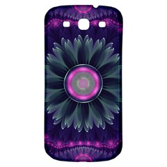 Beautiful Hot Pink And Gray Fractal Anemone Kisses Samsung Galaxy S3 S Iii Classic Hardshell Back Case by jayaprime