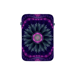 Beautiful Hot Pink And Gray Fractal Anemone Kisses Apple Ipad Mini Protective Soft Cases by jayaprime