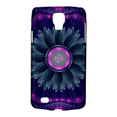 Beautiful Hot Pink And Gray Fractal Anemone Kisses Galaxy S4 Active by jayaprime