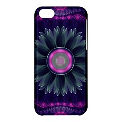 Beautiful Hot Pink And Gray Fractal Anemone Kisses Apple Iphone 5c Hardshell Case by jayaprime