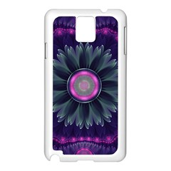 Beautiful Hot Pink And Gray Fractal Anemone Kisses Samsung Galaxy Note 3 N9005 Case (white) by jayaprime