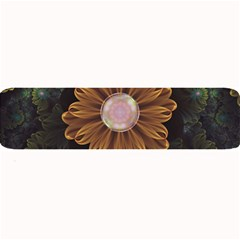 Abloom In Autumn Leaves With Faded Fractal Flowers Large Bar Mats by jayaprime
