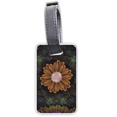Abloom In Autumn Leaves With Faded Fractal Flowers Luggage Tags (one Side)  by jayaprime