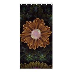 Abloom In Autumn Leaves With Faded Fractal Flowers Shower Curtain 36  X 72  (stall)  by jayaprime