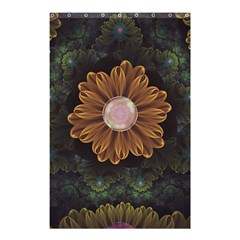 Abloom In Autumn Leaves With Faded Fractal Flowers Shower Curtain 48  X 72  (small)  by jayaprime