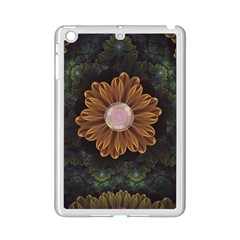 Abloom In Autumn Leaves With Faded Fractal Flowers Ipad Mini 2 Enamel Coated Cases by jayaprime