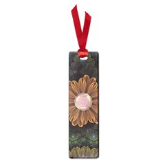 Abloom In Autumn Leaves With Faded Fractal Flowers Small Book Marks by jayaprime