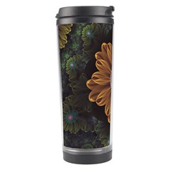 Abloom In Autumn Leaves With Faded Fractal Flowers Travel Tumbler by jayaprime