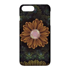 Abloom In Autumn Leaves With Faded Fractal Flowers Apple Iphone 8 Plus Hardshell Case by jayaprime