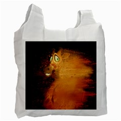 The Funny, Speed Giraffe Recycle Bag (one Side) by FantasyWorld7