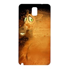 The Funny, Speed Giraffe Samsung Galaxy Note 3 N9005 Hardshell Back Case by FantasyWorld7