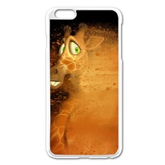 The Funny, Speed Giraffe Apple Iphone 6 Plus/6s Plus Enamel White Case by FantasyWorld7