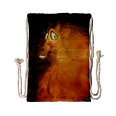 The Funny, Speed Giraffe Drawstring Bag (small) by FantasyWorld7