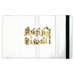Happy Diwali Gold Golden Stars Star Festival Of Lights Deepavali Typography Apple Ipad 2 Flip Case by yoursparklingshop