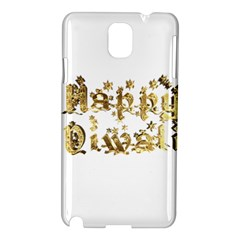 Happy Diwali Gold Golden Stars Star Festival Of Lights Deepavali Typography Samsung Galaxy Note 3 N9005 Hardshell Case by yoursparklingshop