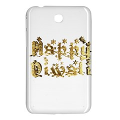 Happy Diwali Gold Golden Stars Star Festival Of Lights Deepavali Typography Samsung Galaxy Tab 3 (7 ) P3200 Hardshell Case  by yoursparklingshop