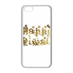 Happy Diwali Gold Golden Stars Star Festival Of Lights Deepavali Typography Apple Iphone 5c Seamless Case (white) by yoursparklingshop