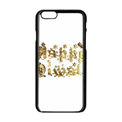 Happy Diwali Gold Golden Stars Star Festival Of Lights Deepavali Typography Apple Iphone 6/6s Black Enamel Case by yoursparklingshop