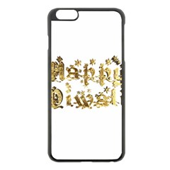 Happy Diwali Gold Golden Stars Star Festival Of Lights Deepavali Typography Apple Iphone 6 Plus/6s Plus Black Enamel Case by yoursparklingshop