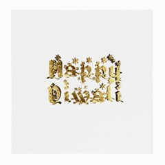 Happy Diwali Gold Golden Stars Star Festival Of Lights Deepavali Typography Medium Glasses Cloth by yoursparklingshop