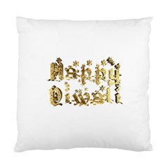 Happy Diwali Gold Golden Stars Star Festival Of Lights Deepavali Typography Standard Cushion Case (one Side) by yoursparklingshop