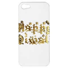 Happy Diwali Gold Golden Stars Star Festival Of Lights Deepavali Typography Apple Iphone 5 Hardshell Case by yoursparklingshop