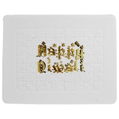 Happy Diwali Gold Golden Stars Star Festival Of Lights Deepavali Typography Jigsaw Puzzle Photo Stand (rectangular) by yoursparklingshop