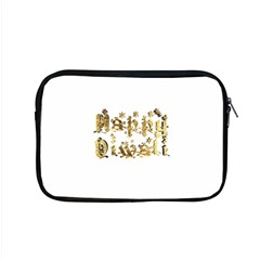 Happy Diwali Gold Golden Stars Star Festival Of Lights Deepavali Typography Apple Macbook Pro 15  Zipper Case by yoursparklingshop