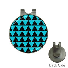 Triangle2 Black Marble & Turquoise Colored Pencil Hat Clips With Golf Markers by trendistuff