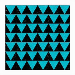 Triangle2 Black Marble & Turquoise Colored Pencil Medium Glasses Cloth (2 Side) by trendistuff