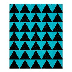 Triangle2 Black Marble & Turquoise Colored Pencil Shower Curtain 60  X 72  (medium)  by trendistuff