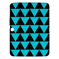 Triangle2 Black Marble & Turquoise Colored Pencil Samsung Galaxy Tab 3 (10 1 ) P5200 Hardshell Case  by trendistuff
