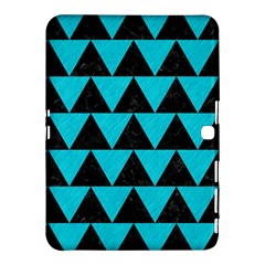 Triangle2 Black Marble & Turquoise Colored Pencil Samsung Galaxy Tab 4 (10 1 ) Hardshell Case  by trendistuff