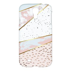 Collage,white Marble,gold,silver,black,white,hand Drawn, Modern,trendy,contemporary,pattern Samsung Galaxy S4 I9500/i9505 Hardshell Case by 8fugoso