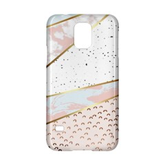 Collage,white Marble,gold,silver,black,white,hand Drawn, Modern,trendy,contemporary,pattern Samsung Galaxy S5 Hardshell Case  by 8fugoso