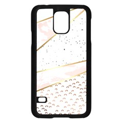 Collage,white Marble,gold,silver,black,white,hand Drawn, Modern,trendy,contemporary,pattern Samsung Galaxy S5 Case (black) by 8fugoso