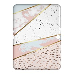 Collage,white Marble,gold,silver,black,white,hand Drawn, Modern,trendy,contemporary,pattern Samsung Galaxy Tab 4 (10 1 ) Hardshell Case  by 8fugoso