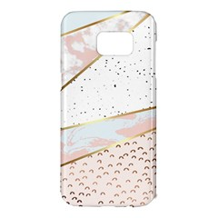 Collage,white Marble,gold,silver,black,white,hand Drawn, Modern,trendy,contemporary,pattern Samsung Galaxy S7 Edge Hardshell Case by 8fugoso